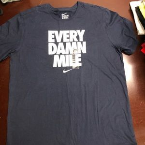 Nike blue every damn mile T-shirt XXL